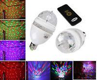 E27 3W RGB LED Full Color Rotating Lamp Remote $29.99