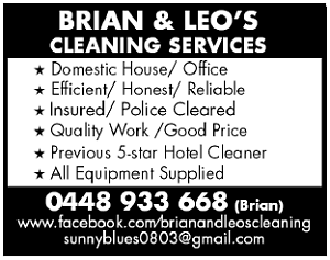 Brian & Leo's Cleaning Services Carlisle Victoria Park Area Preview