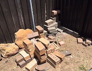 Free pavers and bricks - approx 70