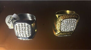 New ring gold and silver plated