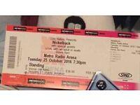 Nickelback standing tickets x 2 Newcastle 25/10/16
