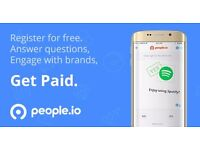Get paid to answer questions and engage with brands. Register free.