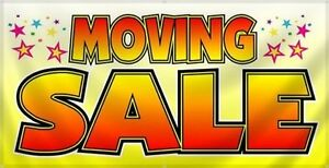MOVING SALE - 8 am both days