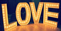 Marquee Love Letter Lights Available For Rent