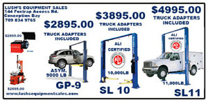 Tire Changers, Wheel Balancers, Automotive Lifts