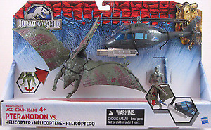 Brand New JURASSIC WORLD Pteranodon vs. Helicopter Pack