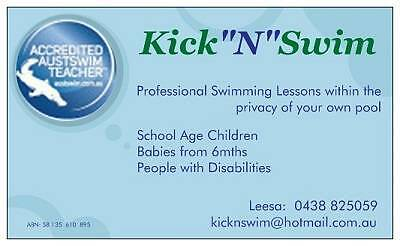 Swimming Lessons with  Kick 'n' Swim  -  Sydney NORTHERN BEACHES.