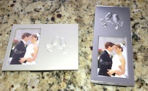 Cute silver wedding photo frames for sale
