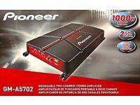 1000w Pioneer amp + 1300w Sony Xplod subwoofer