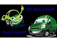 Any Cars/Vans Wanted