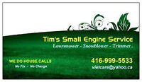 WE DO HOUSE CALLS - Mobile service lawnmower, snowblower..