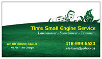 WE DO HOUSE CALLS - Mobile service lawnmower & small engines
