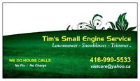 WE DO HOUSE CALLS, Mobile service lawnmower, snowblower