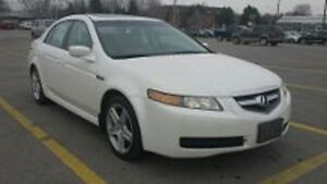 Loaded 2005 Acura TL White Michelin Sport Tires