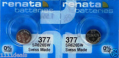 2 Renata Replacement Batteries for Swatch FLIK FLAK