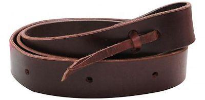 "Showman PONY Premium Leather Latigo Cinch Tie Saddle Strap Punched holes 5'x1.5"""