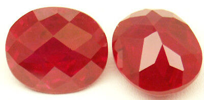 12.5x10.5 mm 8.2 ct Diffusion Checkerboard created Ruby