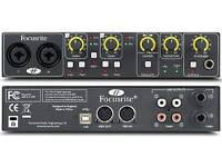 Focusrite saffire 6 USB audio interface external soundcard
