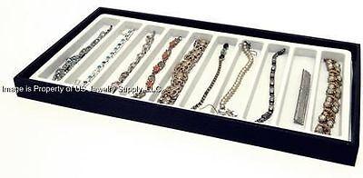 1 Black 10 Slot White Jewelry Pen Pocket Knife Bracelet Display Tray