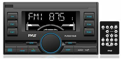 New PLRDD19UB Bluetooth Digital Car Audio Receiver AM/FM Radio USB/SD/AUX Input