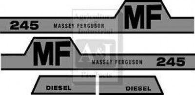 New Massey Ferguson Hood Decal Set Mf245 Whump