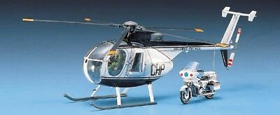 Plastic Model Helicopter (Academy 1/48 Hughes 500D Police Helicopter Plastic Model Kit 12249)
