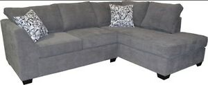 Sectional sofa with chaise, 100 + fabrics, MADE IN BC