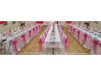 100 white/cream cotton chair covers for sale