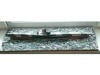 German model U-boat diorama