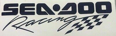 WHITE Sea-Doo Racing Decal Sticker BRP logo JET SKI PWC WATERCRAFT TOOL BOX