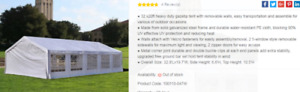PARTY EVENT TENT 20 FT X 32 FT