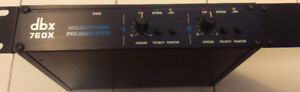 DBX 760X, 2 Channel Microphone Pre-amplifier, Vintage