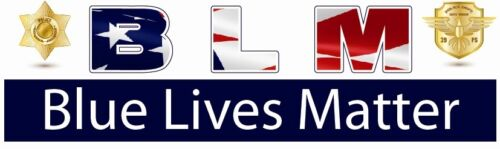 B L M   BLUE LIVES MATTER ~~ BUMPER STICKER!!
