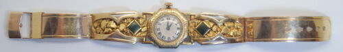 Antique 15J 10K Band W/ 24K Gold Nuggets Marvin/Fahys Watch Co Watch, 51.2gr