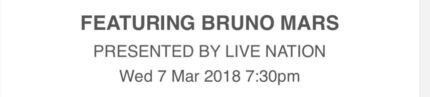 3 Bruno Mars Melbourne Tickets
