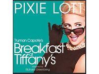 2 x Breakfast at Tiffany's - Theatre Royal Haymarket, London - 06/09/16 @7.30pm