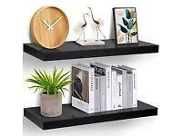 2 x Brand New IKEA Persby Floating Wall Shelves in Black