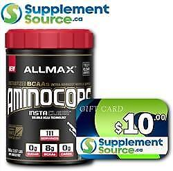 .Allmax AMINOCORE, 111 Servings & SSca $10 Gift Card
