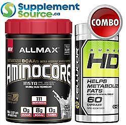 .Allmax AMINOCORE (111 Serving) + Cellucor SUPER HD COMBO