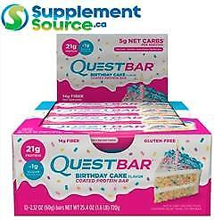 .  Quest BARS, 12 Bars/Box - 3 Flavours