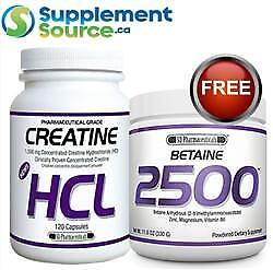 .SD Pharmaceuticals CREATINE HCL, 120 Caps w Betaine