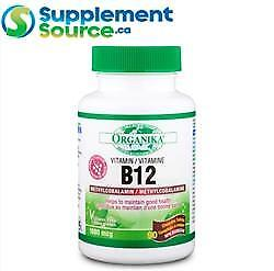 Organika Health B-12 (Methylcobalamin) 1000mcg, 90 Tabs - Grape