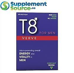 . T8 VERVE FOR MEN (Testosterone Booster), 30 Caps