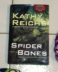 """Hard cover """"Spider Bones"""" by Kathy Reichs for sale London Ontario image 1"""