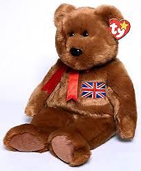 Britannia the UK Exclusive Bear Ty Beanie Buddy stuffed animal