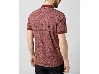 Pretty Green All Over Paisley Print Polo Shirt - Mens Small