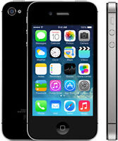 Black iPhone 4s, 16 gb, Bell/Virgin, no contract *BUY SECURE*