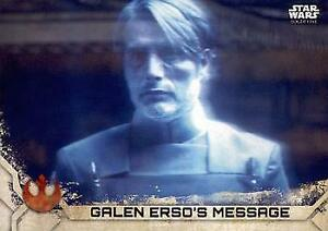 2017 Topps Star Wars Rogue ONE Series 2# 22 Galen Erso's Message