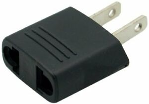 Travel adapter from round Asia, EU to US/Canada flat prongs