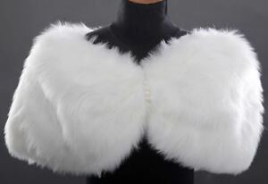 brand new Grace Karin Women Ivory Faux Fur Wedding Bridal Bride